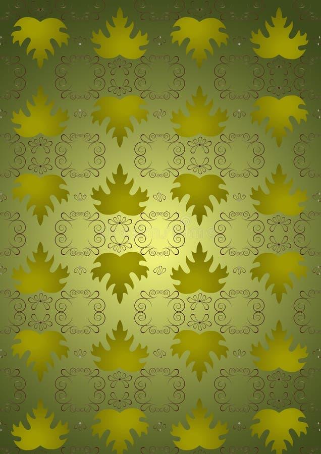 Naadloze bladeren als achtergrond van groene druiven. royalty-vrije illustratie
