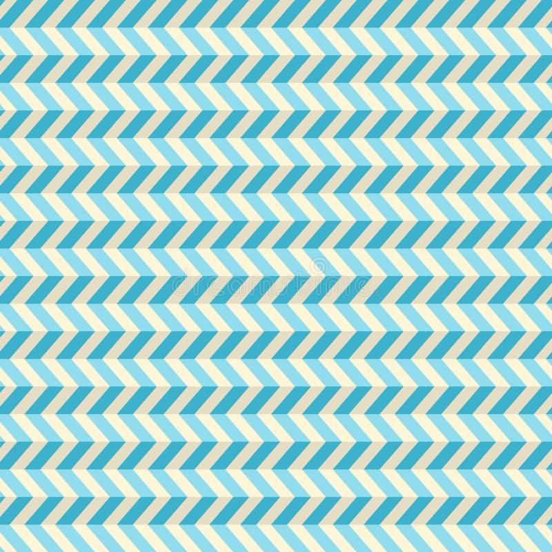 Naadloze Blauwe Getande Achtergrond vector illustratie