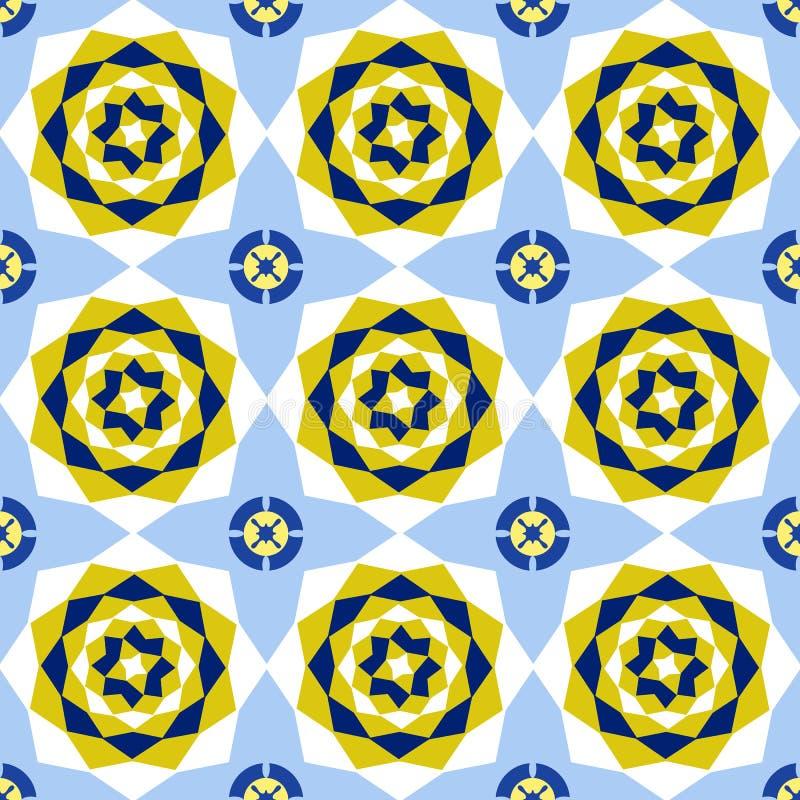 Naadloze bloemen abstracte geometrische patroonachtergrond Uitstekend F stock illustratie