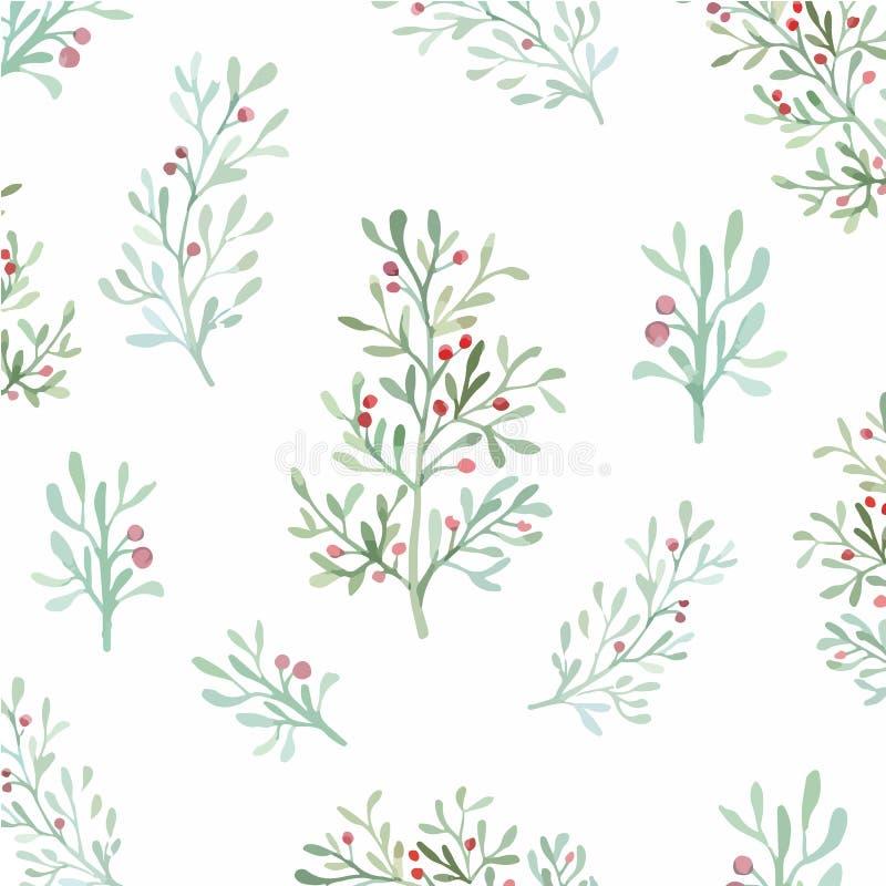 Naadloze Bloemen en Bladeren stock illustratie