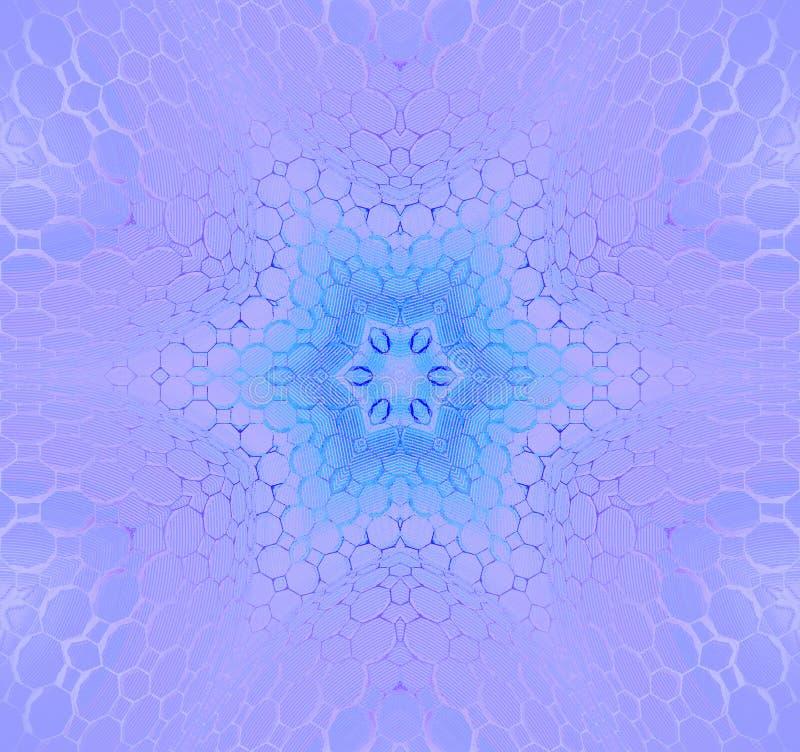 Naadloze bloemen gecentreerd patroon blauwe purple stock illustratie