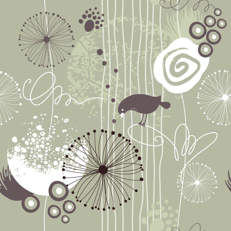 Naadloze bloemenachtergrond stock illustratie