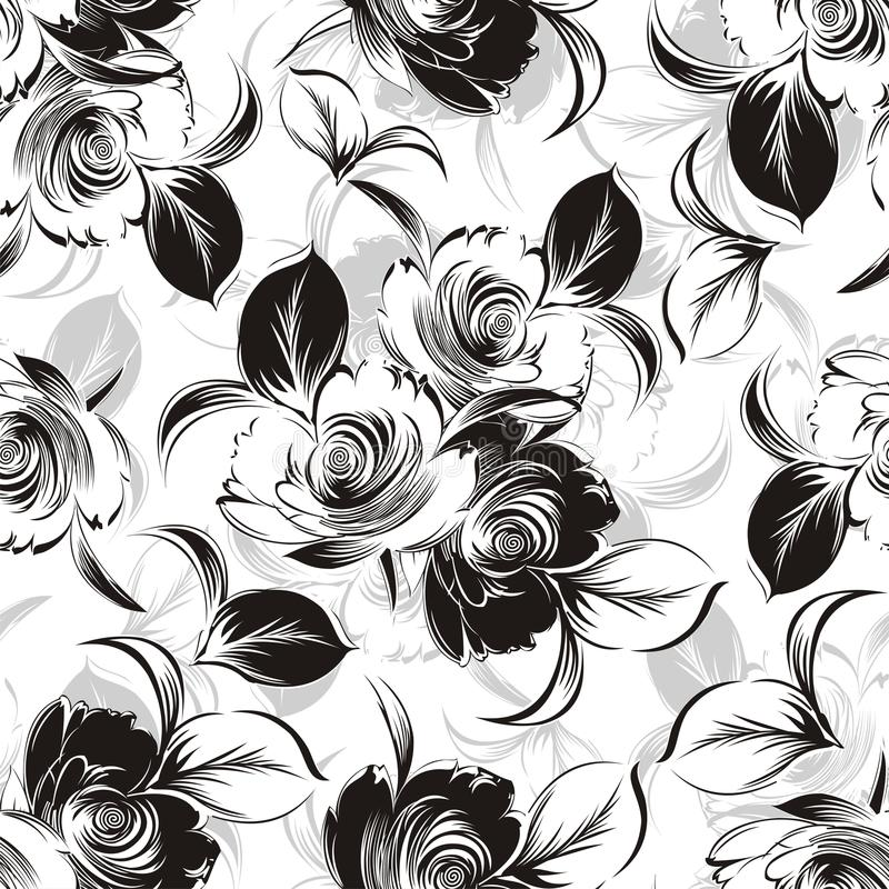 Naadloze bloemenachtergrond royalty-vrije illustratie