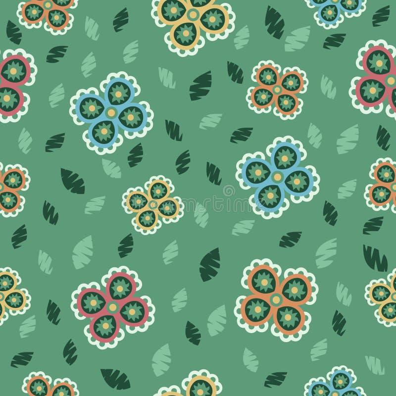 Naadloze bloemenachtergrond vector illustratie