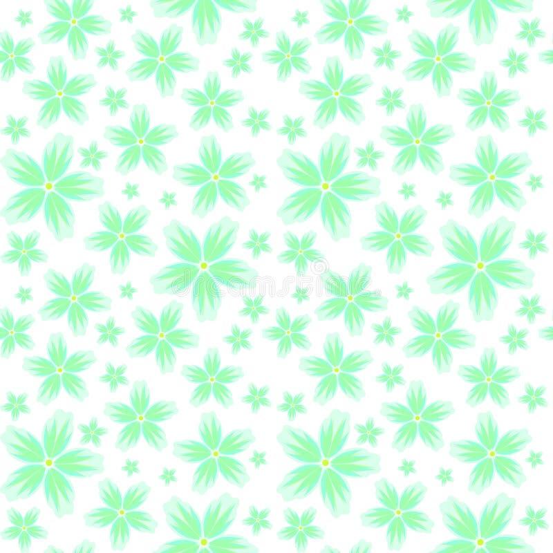 Naadloze bloemenachtergrond met een patroon van grote en kleine bloemen in pastelkleuren royalty-vrije stock afbeeldingen