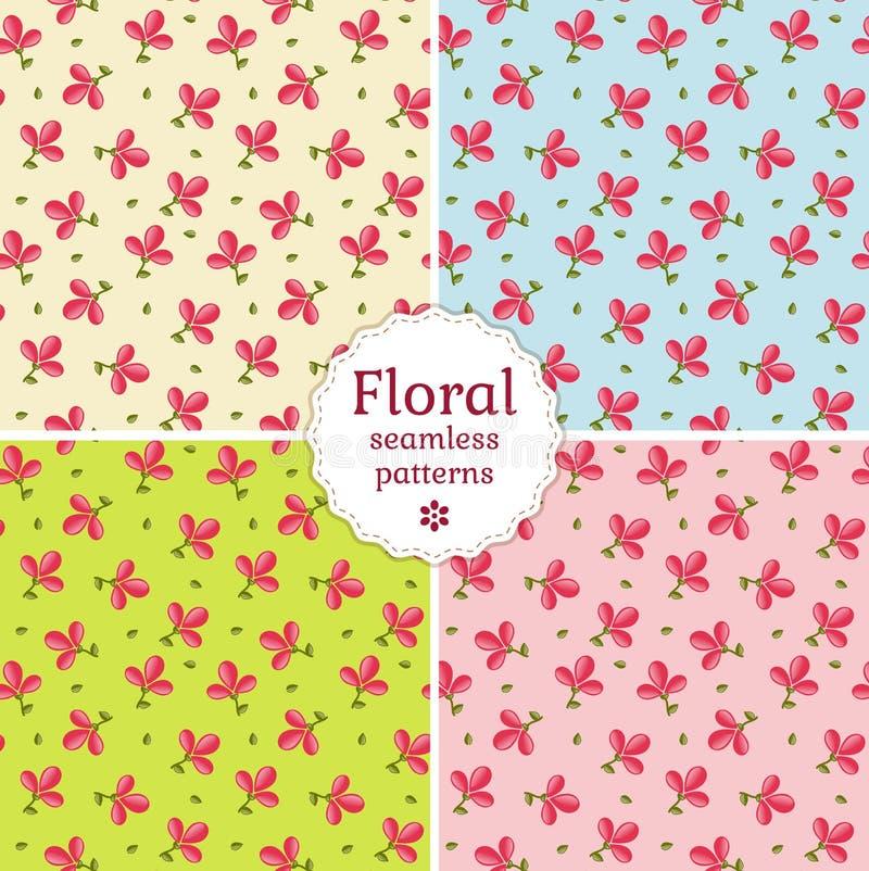 Naadloze bloemenpatronen. Vectorillustratie. stock illustratie