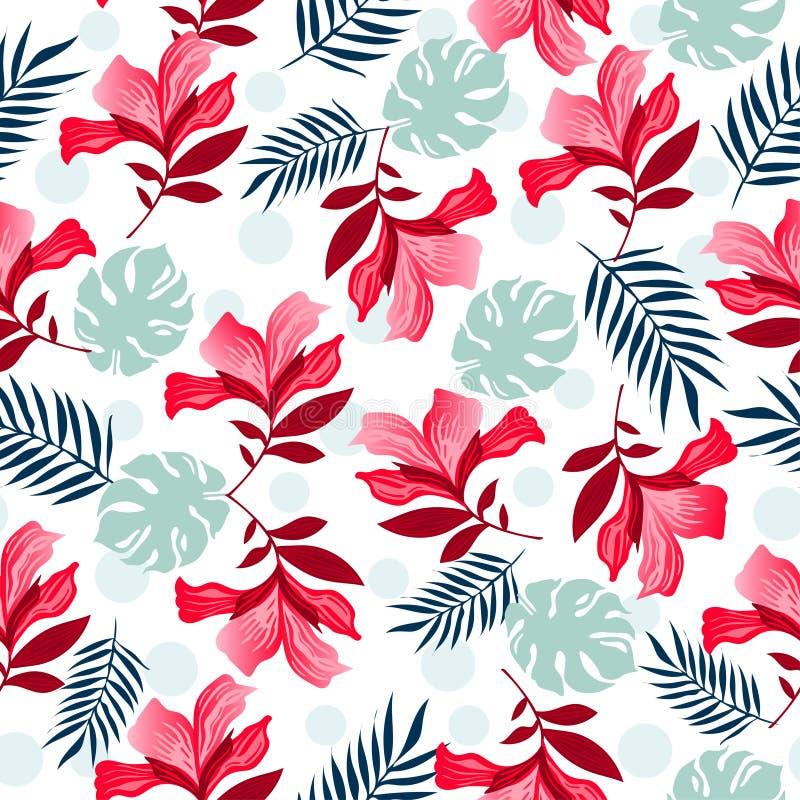 Naadloze bloemenpatroon vectorillustratie vector illustratie