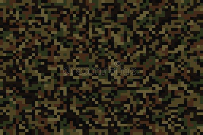 Naadloze bospixelcamouflage royalty-vrije illustratie