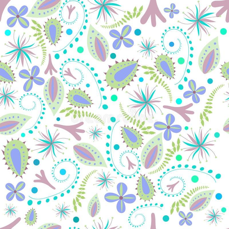 Naadloze botanische textuur royalty-vrije illustratie