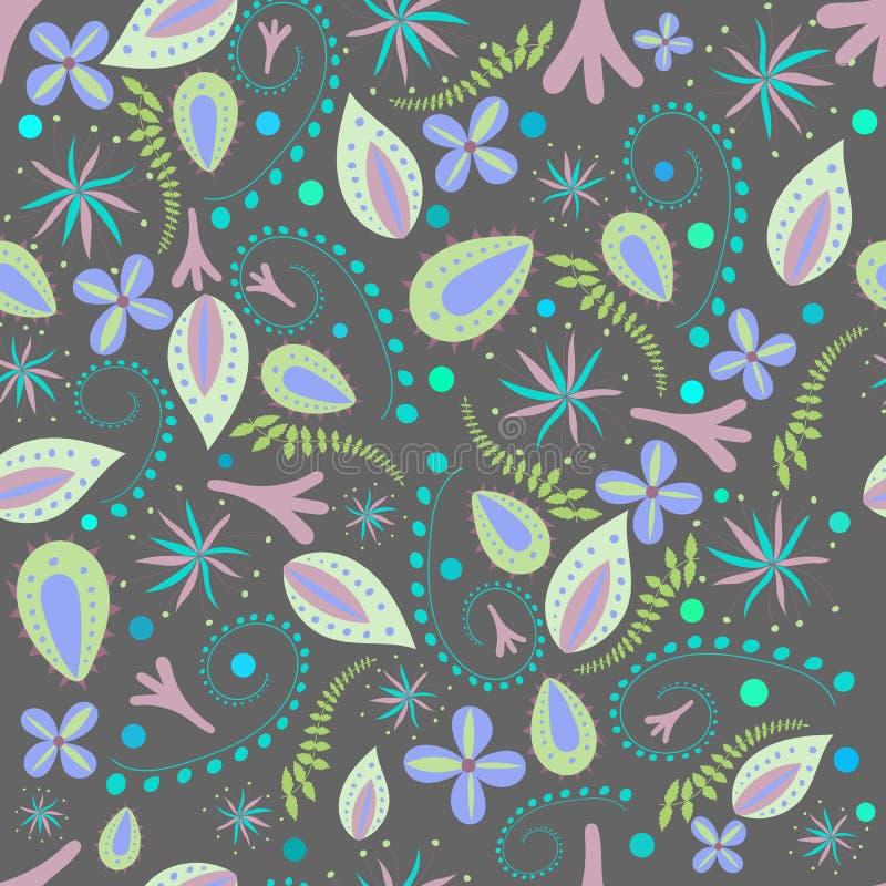 Naadloze botanische textuur stock illustratie