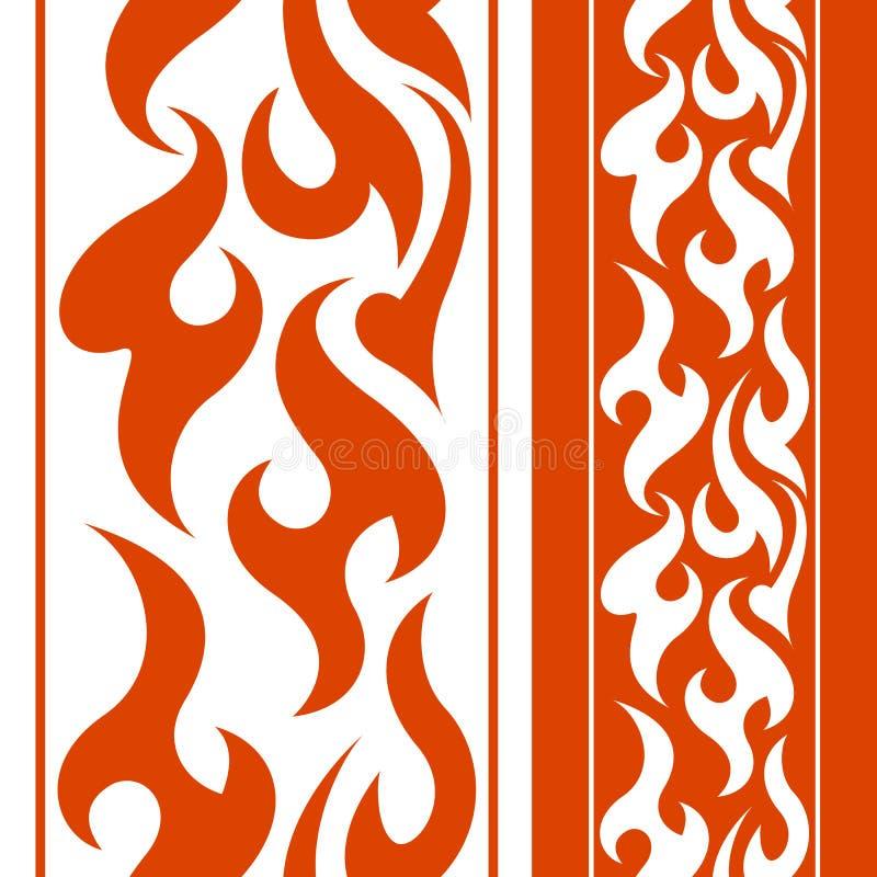 Naadloze brandgrens stock illustratie