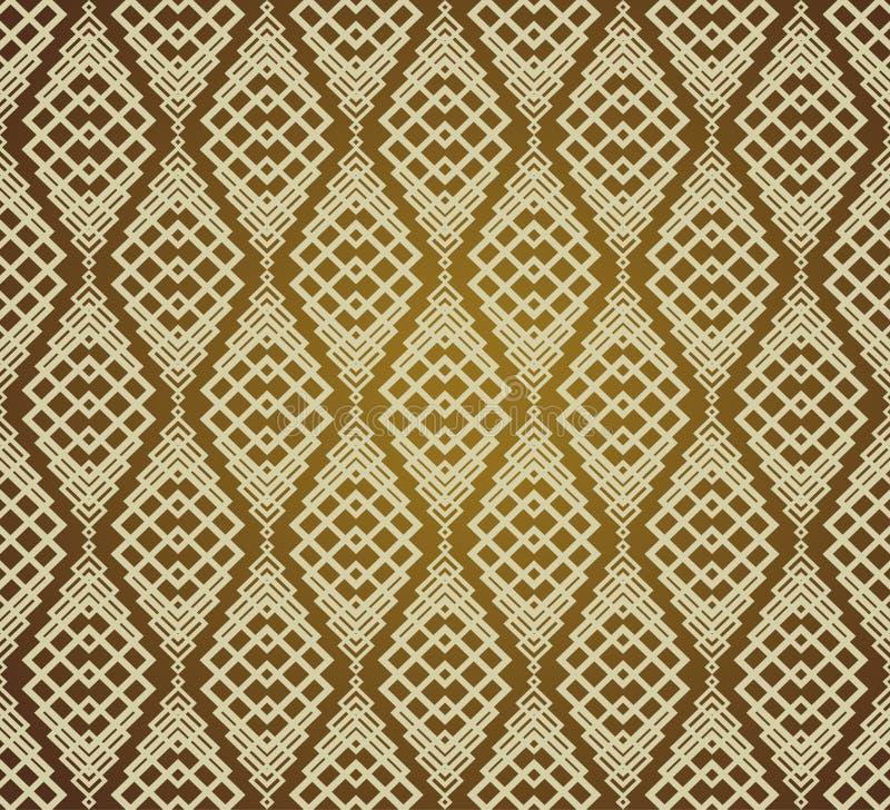 Naadloze Bruine Retro Patroonachtergrond royalty-vrije illustratie