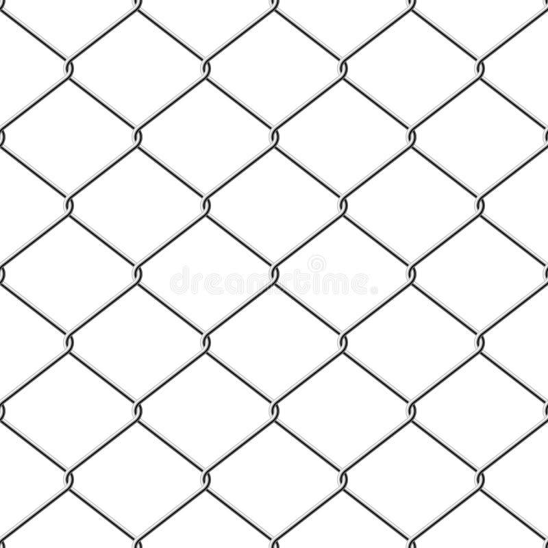 Naadloze chainlinkomheining stock illustratie