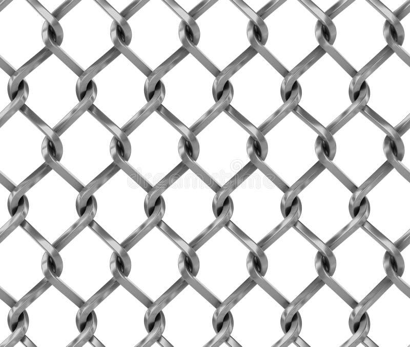 Naadloze chainlinkomheining royalty-vrije illustratie