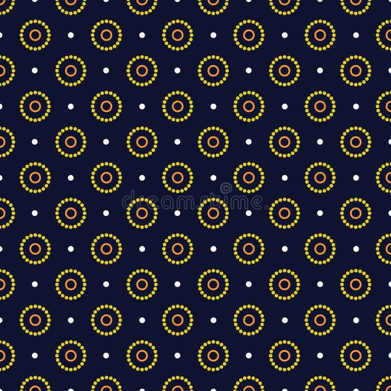 Naadloze Cirkel, de Inheemse achtergrond van de puntkunst - Vector royalty-vrije illustratie