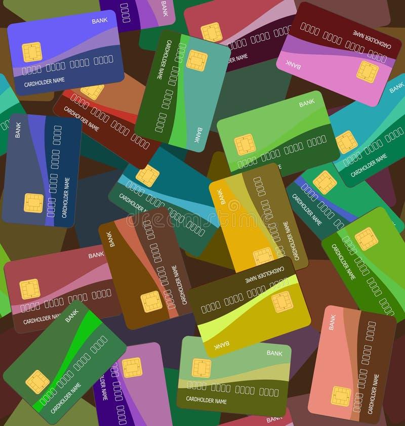 Naadloze creditcardachtergrond vector illustratie