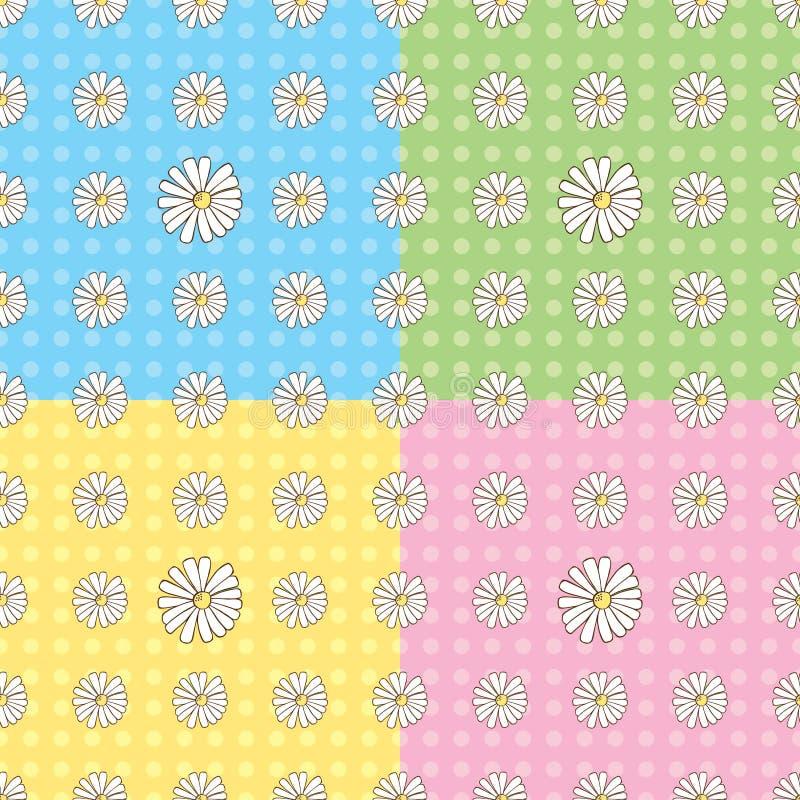 Naadloze Daisy Pattern stock foto's