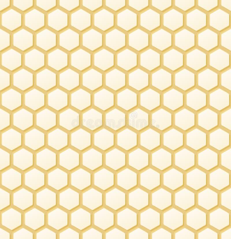 Naadloze de Achtergrond van de honingraat vector illustratie