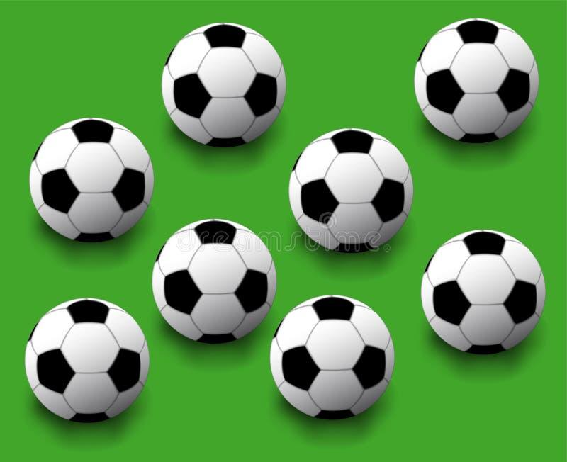 Naadloze de bal van voetbal stock illustratie
