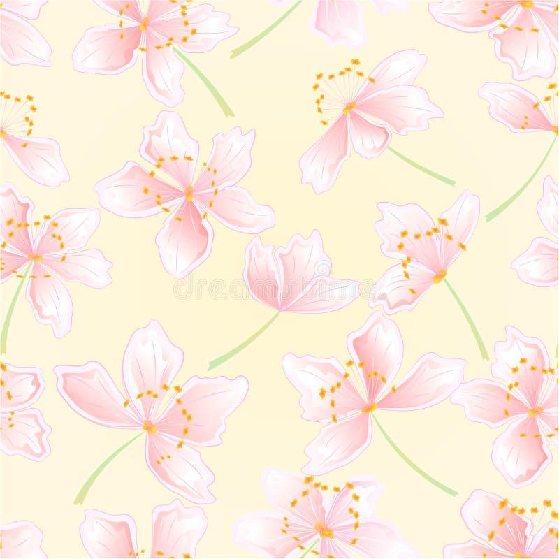 Naadloze de bloesemsvector van textuursakura vector illustratie