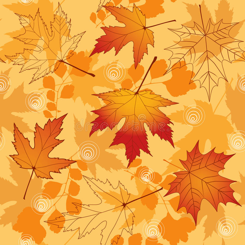 Naadloze de herfst. Vector illustratie. stock illustratie