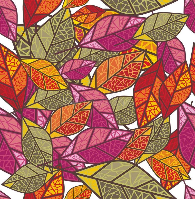Naadloze de herfstachtergrond vector illustratie