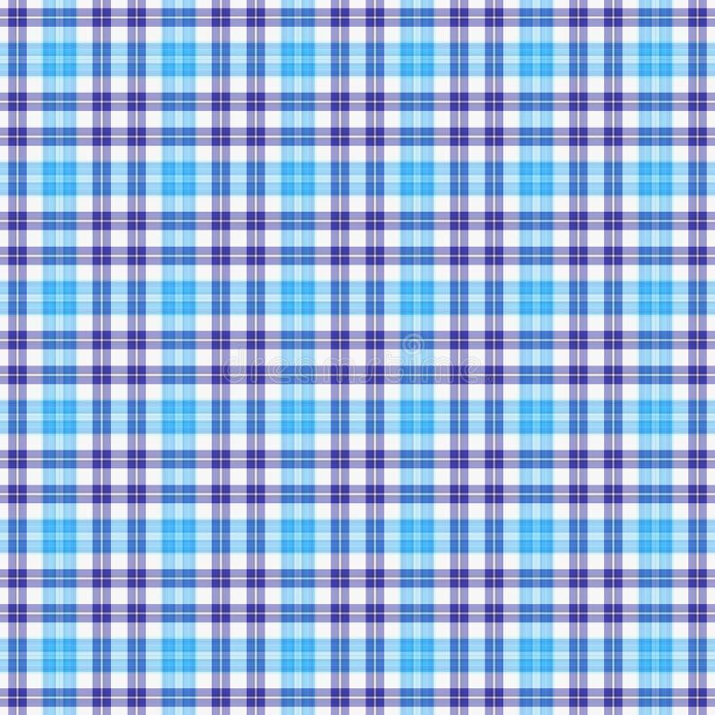 Naadloze de Plaid van blauw vector illustratie