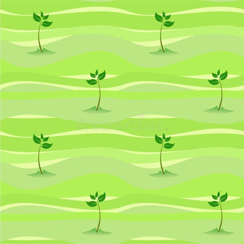 Naadloze de spruitspruit van de lente vector illustratie