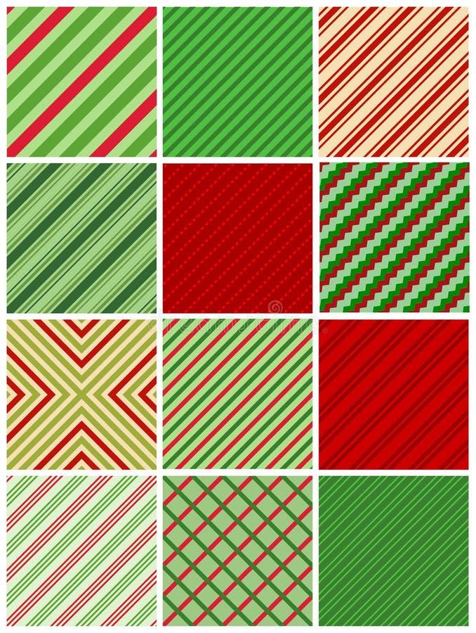 Naadloze de strepen van Kerstmis royalty-vrije illustratie