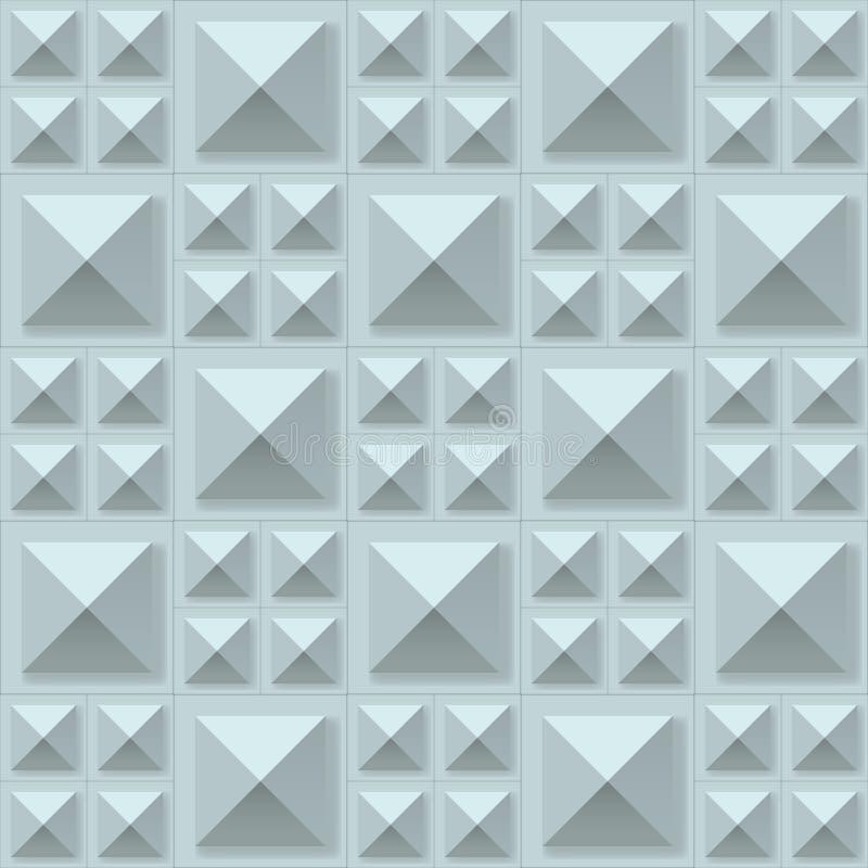 Naadloze de textuur van de meetkunde stock illustratie