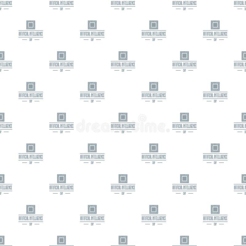 Download Naadloze De Vector Van Het Kunstmatige Intelligentiepatroon Vector Illustratie - Illustratie bestaande uit kring, component: 114226412