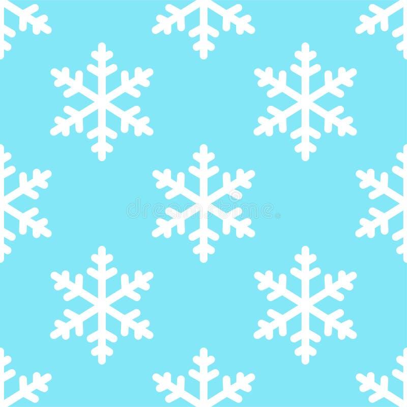 Naadloze de winterachtergrond van het sneeuwvlokpatroon stock illustratie