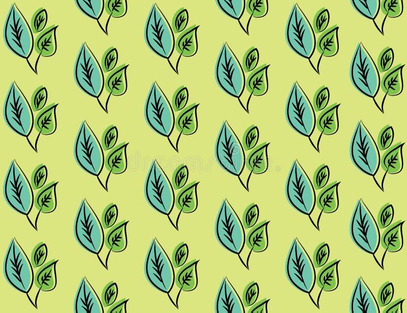 Naadloze decoratieve malplaatjetextuur met groene bladeren royalty-vrije stock foto's