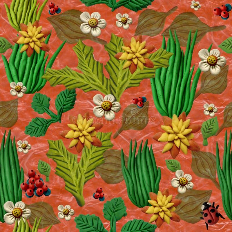 Naadloze decoratieve textuur, die gras simuleren stock fotografie