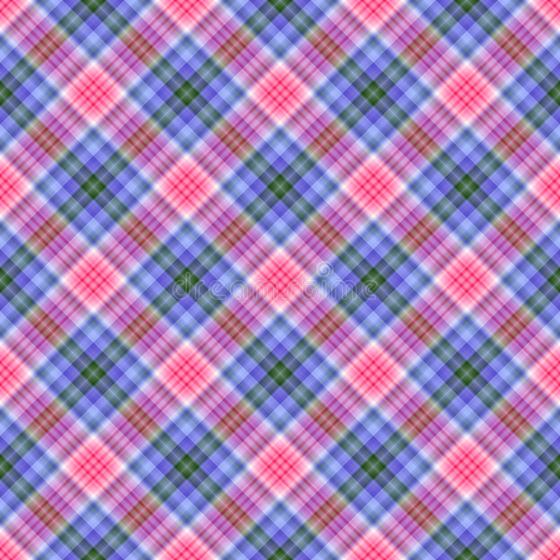Naadloze Diagonale Plaid stock illustratie