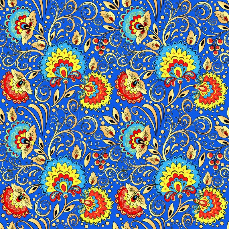 naadloze die achtergrond met bloemen wordt geschilderd en berrie vector illustratie