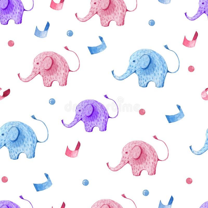 Naadloze die patroonjonge geitjes voor kinderenpartij worden geplaatst vector illustratie
