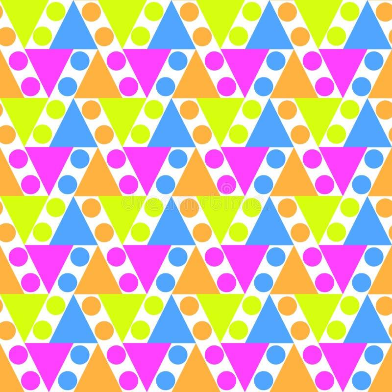 Naadloze Driehoeken en Cirkelsachtergrond royalty-vrije illustratie