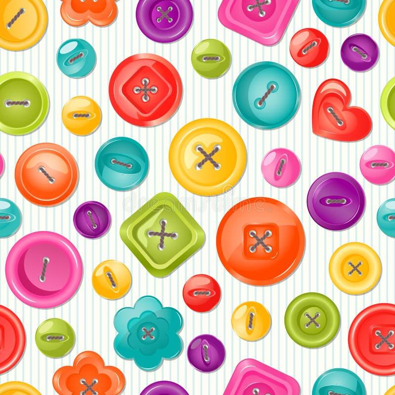Naadloze druk met kleurrijke knopen Vector vector illustratie