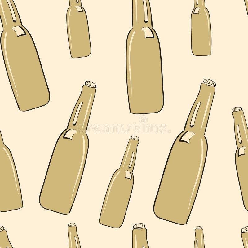 Naadloze flessen stock illustratie