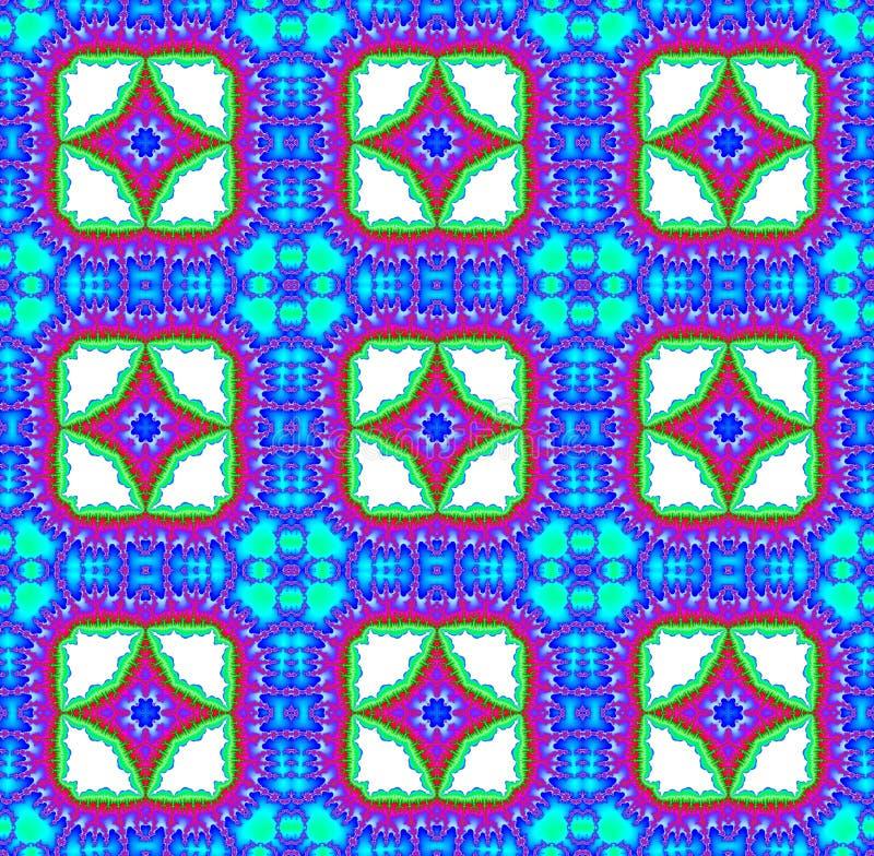 Naadloze fractal achtergrond met diamanten vector illustratie