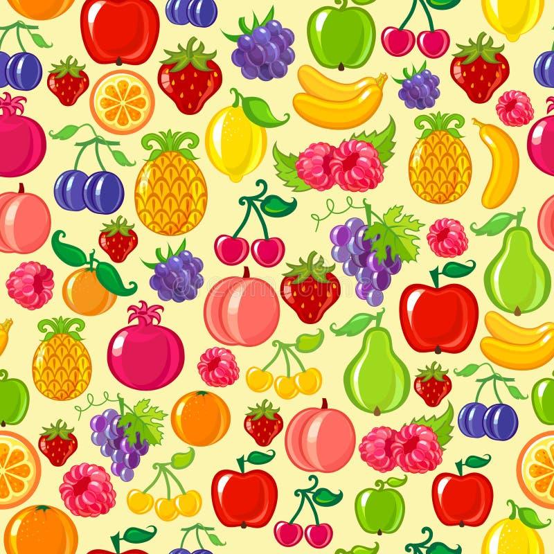 Naadloze fruitachtergrond royalty-vrije illustratie