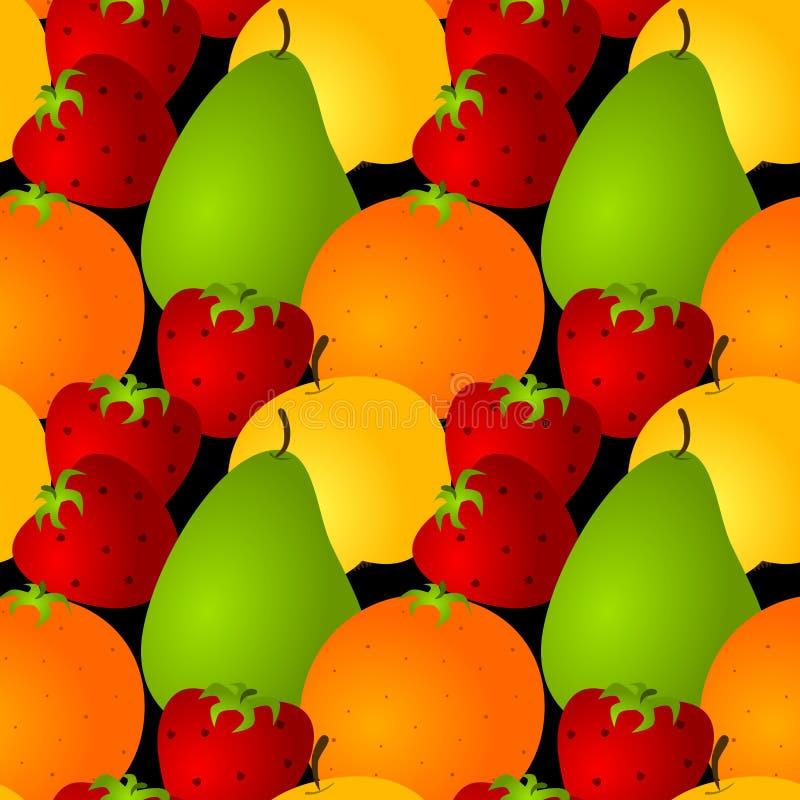 Naadloze geassorteerde vruchten achtergrond stock illustratie
