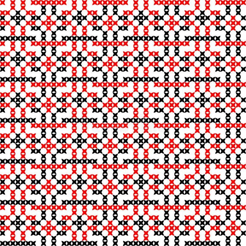 Naadloze geborduurde textuur van abstracte patronen stock afbeeldingen