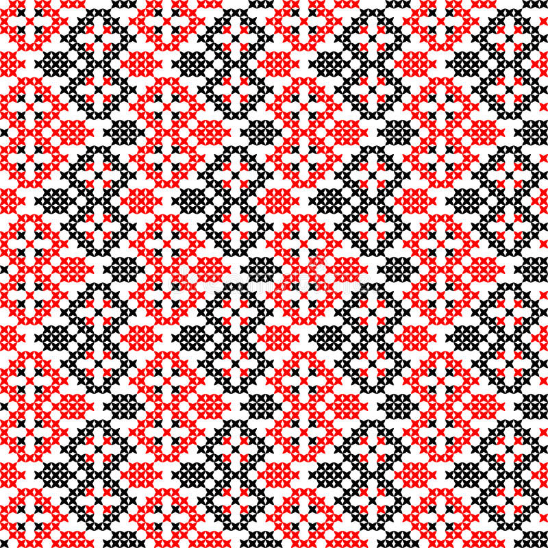 Naadloze geborduurde textuur van abstracte patronen royalty-vrije stock afbeeldingen