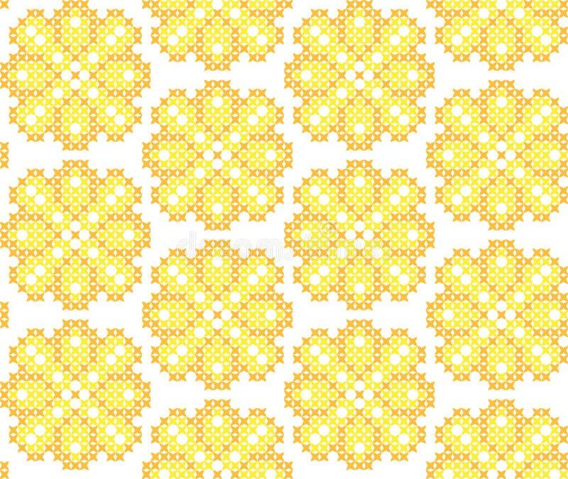 Naadloze geborduurde textuur van abstracte patronen voor doek stock foto