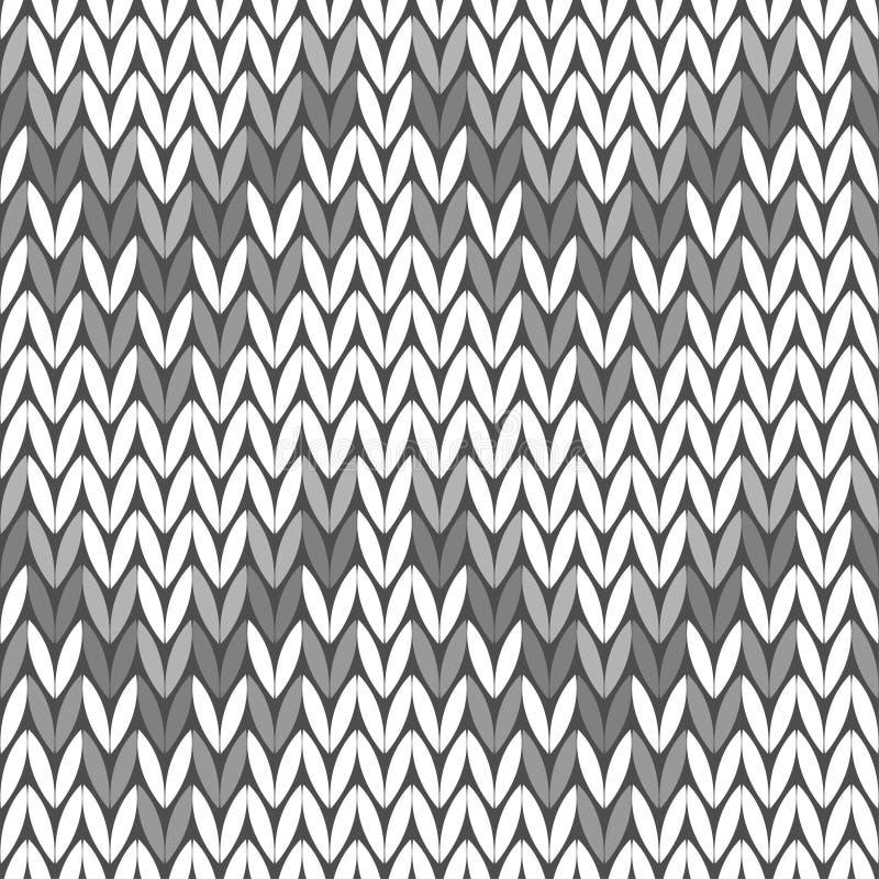 Naadloze gebreide achtergrond Gebreid patroon Grijze sweater vector illustratie