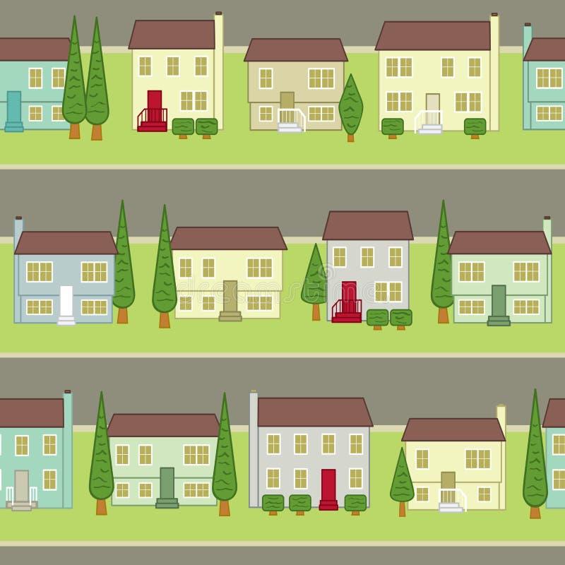 Naadloze Gemeenschap In de voorsteden royalty-vrije illustratie