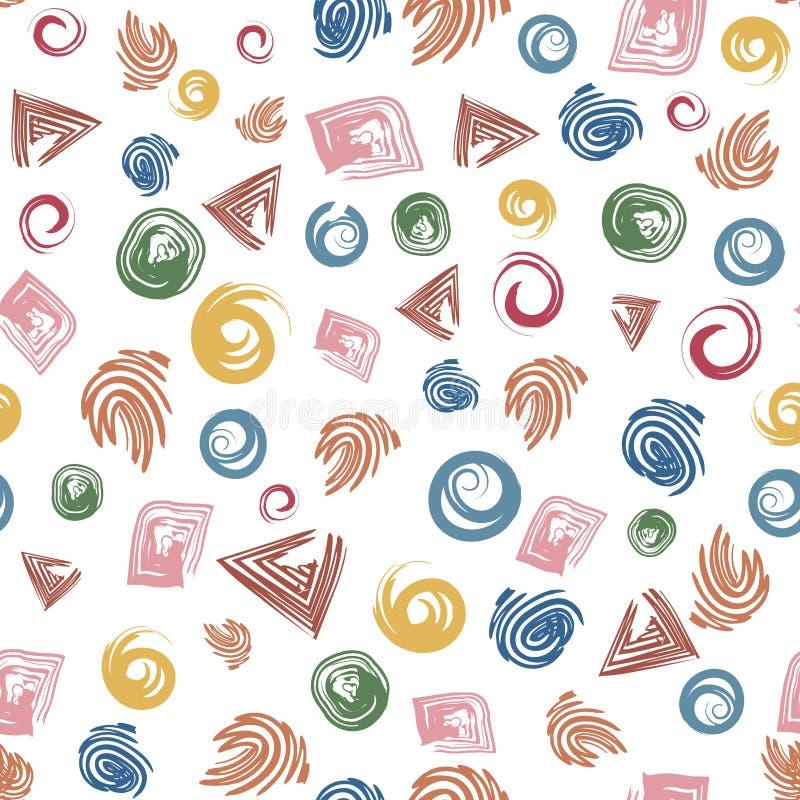Naadloze geometrische abstracte vormen als achtergrond royalty-vrije illustratie