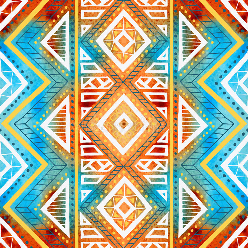 Naadloze geometrische achtergrond De textuur van de Grungewaterverf royalty-vrije illustratie